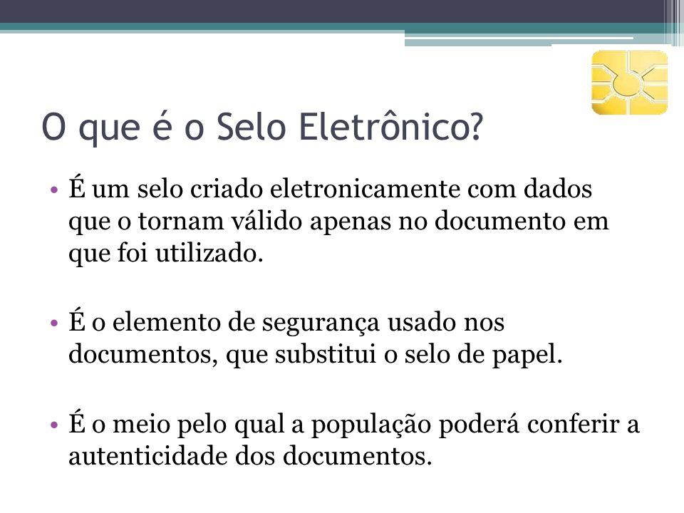 O que é o Selo Eletrônico