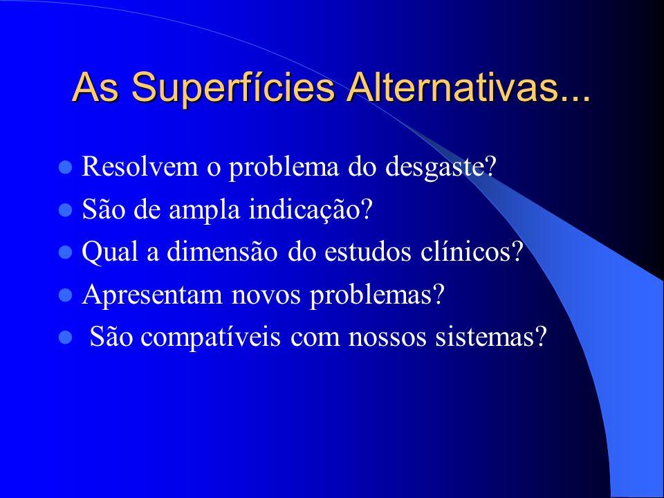 As Superfícies Alternativas...