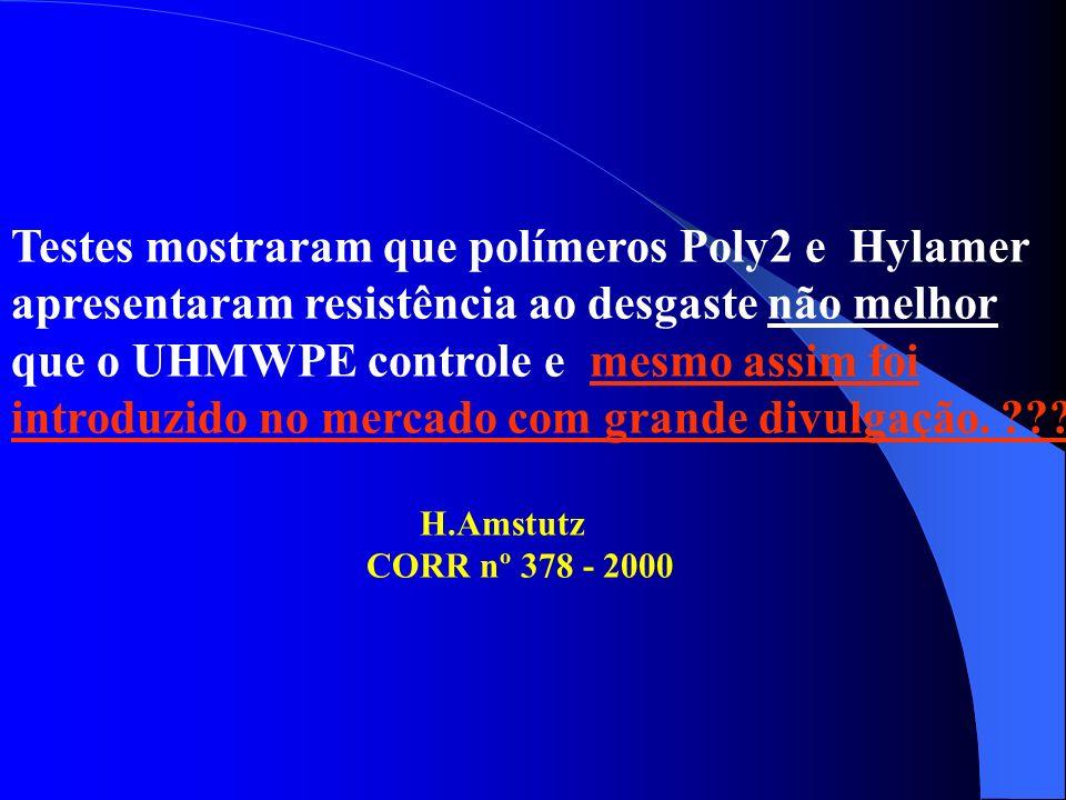 Testes mostraram que polímeros Poly2 e Hylamer