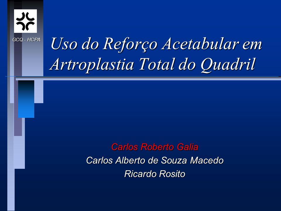 Uso do Reforço Acetabular em Artroplastia Total do Quadril