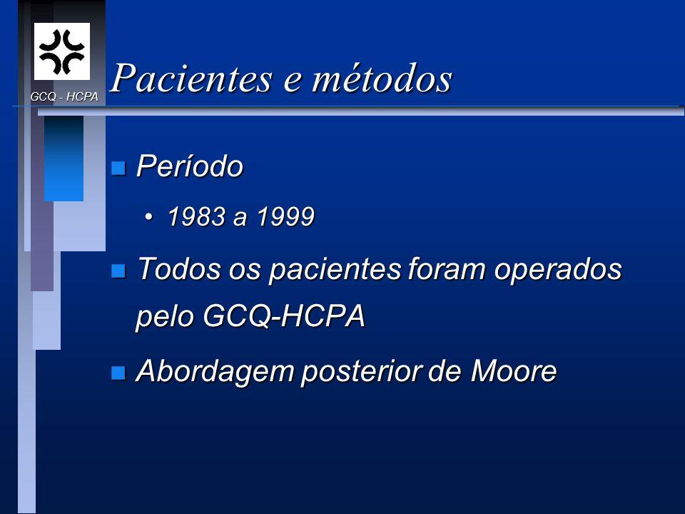 Pacientes e métodos Período
