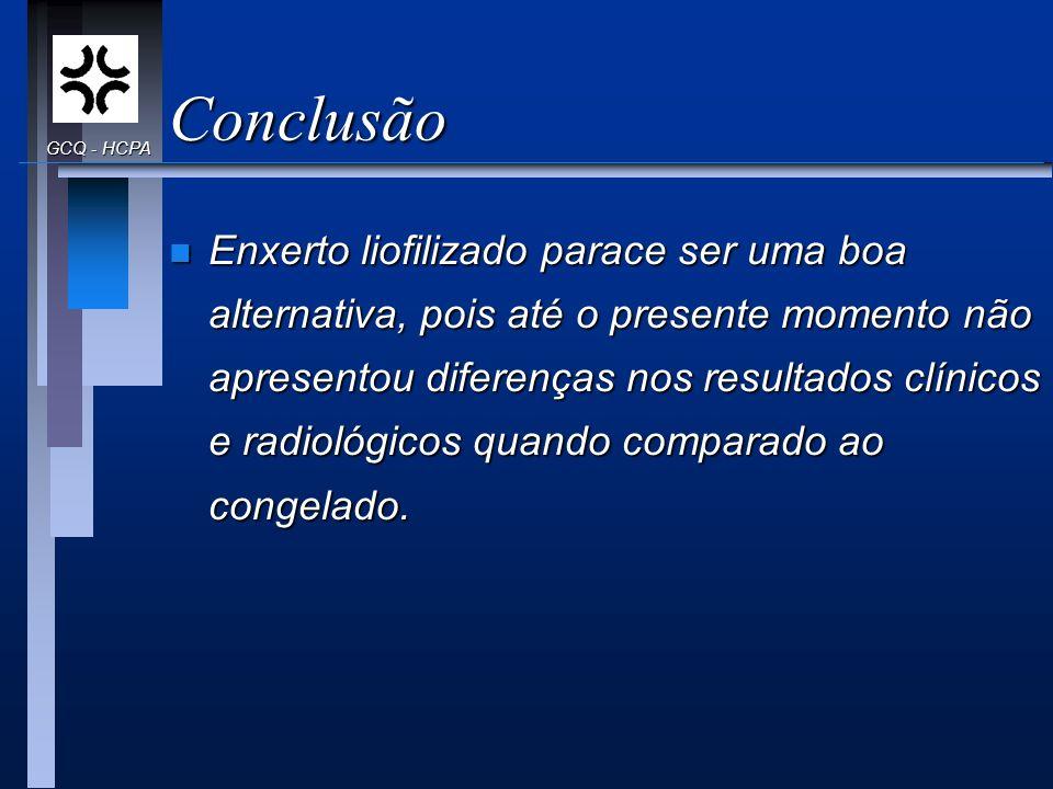 Conclusão GCQ - HCPA.