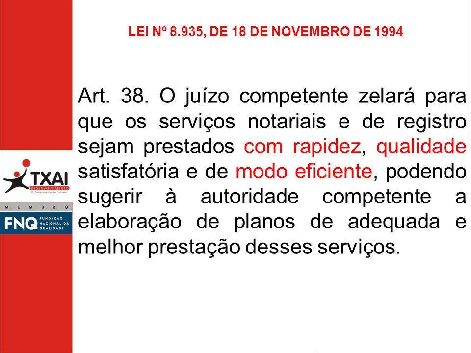 LEI Nº 8.935, DE 18 DE NOVEMBRO DE 1994