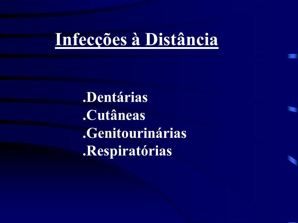 Infecções à Distância .Dentárias .Cutâneas .Genitourinárias
