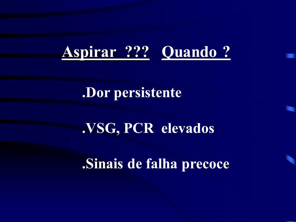 Aspirar Quando .Dor persistente .VSG, PCR elevados