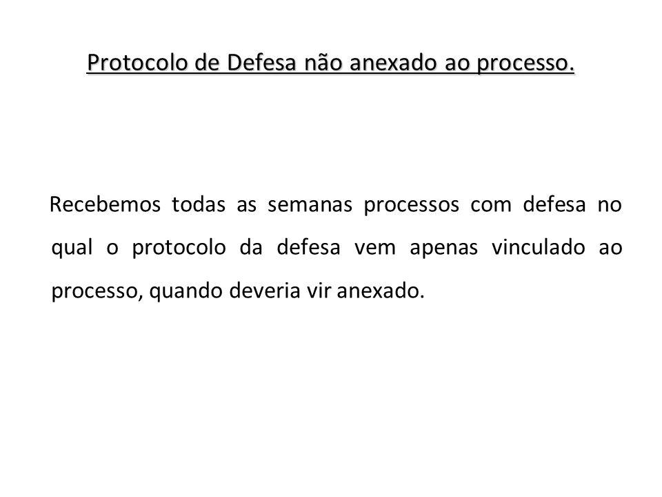 Protocolo de Defesa não anexado ao processo.
