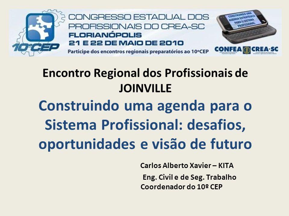 Encontro Regional dos Profissionais de JOINVILLE Construindo uma agenda para o Sistema Profissional: desafios, oportunidades e visão de futuro Carlos Alberto Xavier – KITA Eng.