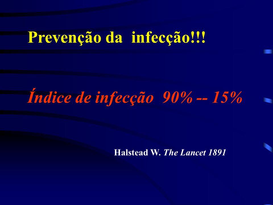 Índice de infecção 90% -- 15%