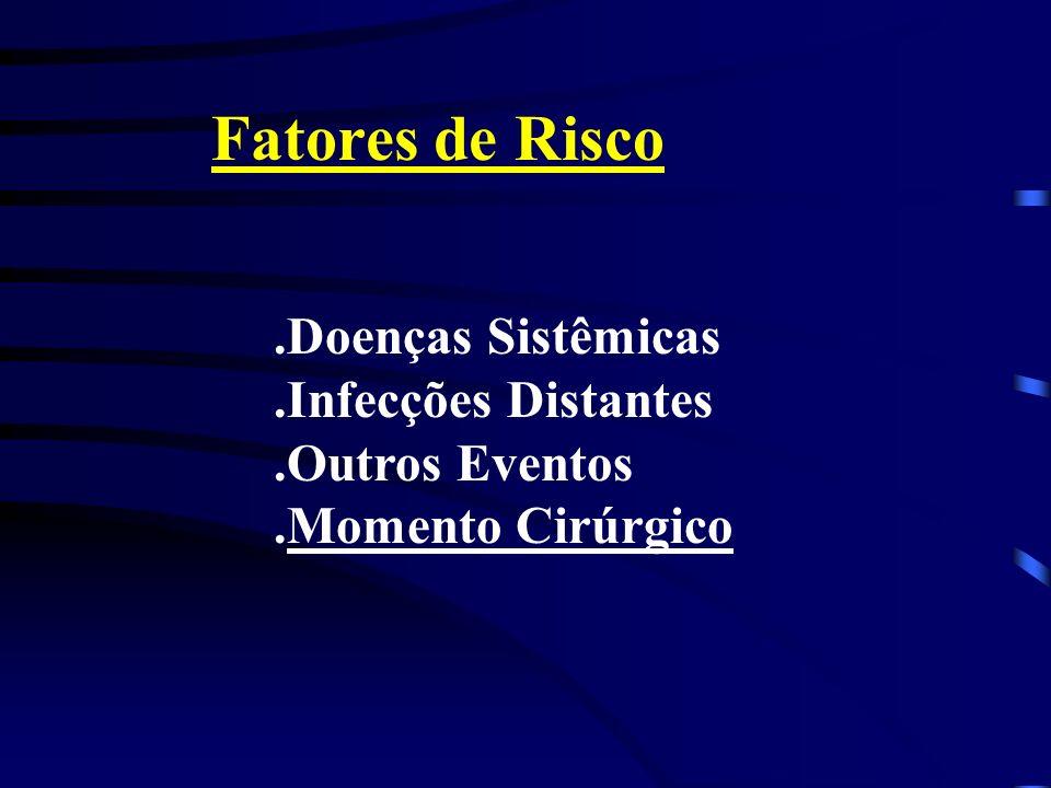 Fatores de Risco .Doenças Sistêmicas .Infecções Distantes