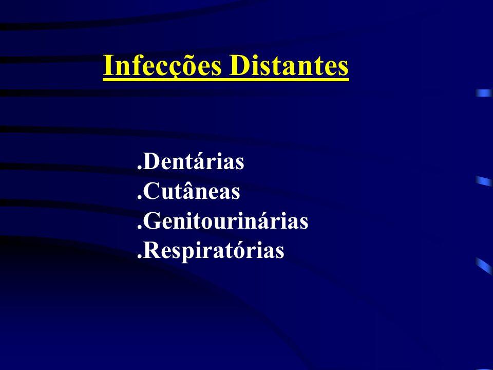 Infecções Distantes .Dentárias .Cutâneas .Genitourinárias