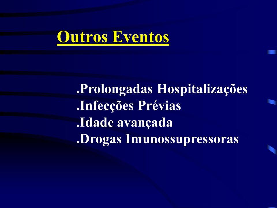 Outros Eventos .Prolongadas Hospitalizações .Infecções Prévias