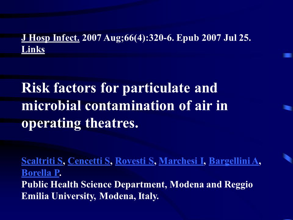 J Hosp Infect. 2007 Aug;66(4):320-6. Epub 2007 Jul 25. Links
