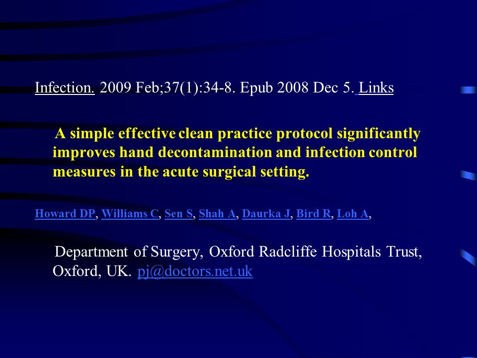 Infection. 2009 Feb;37(1):34-8. Epub 2008 Dec 5. Links