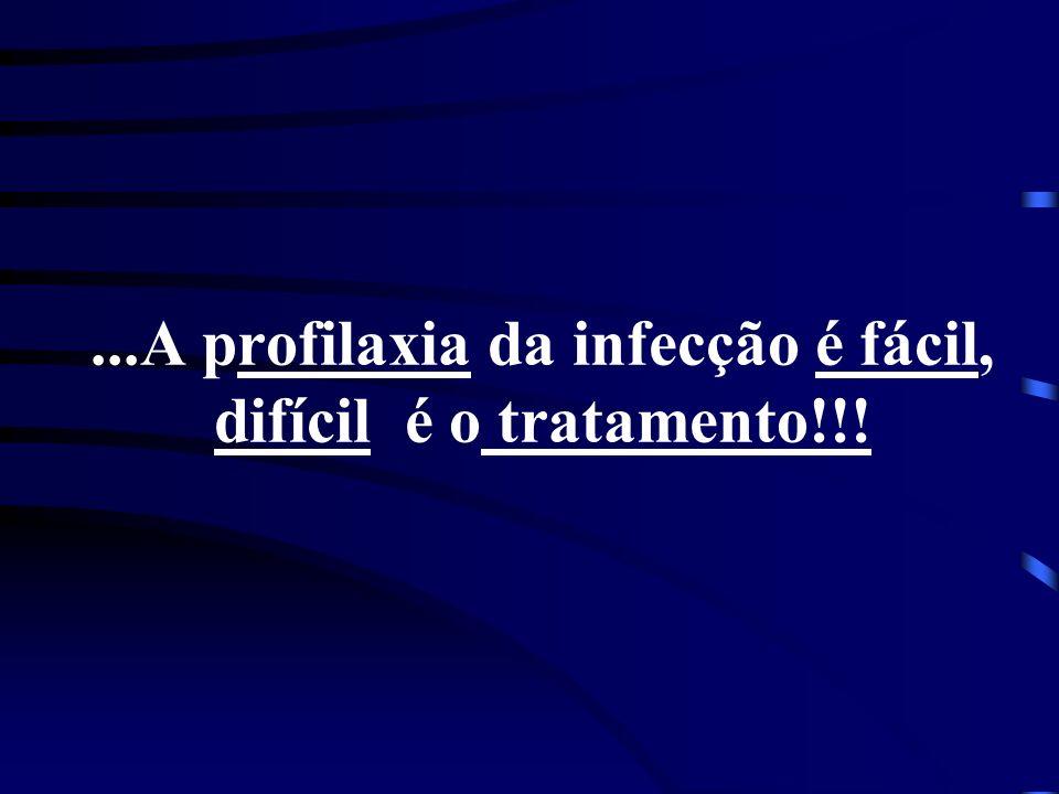 ...A profilaxia da infecção é fácil, difícil é o tratamento!!!