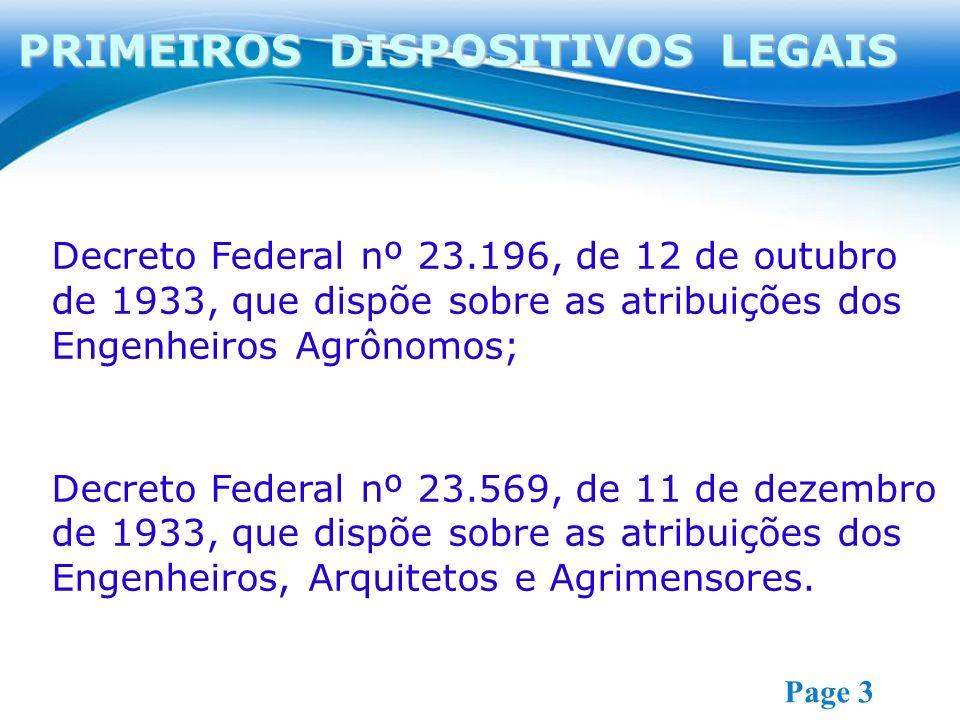 PRIMEIROS DISPOSITIVOS LEGAIS