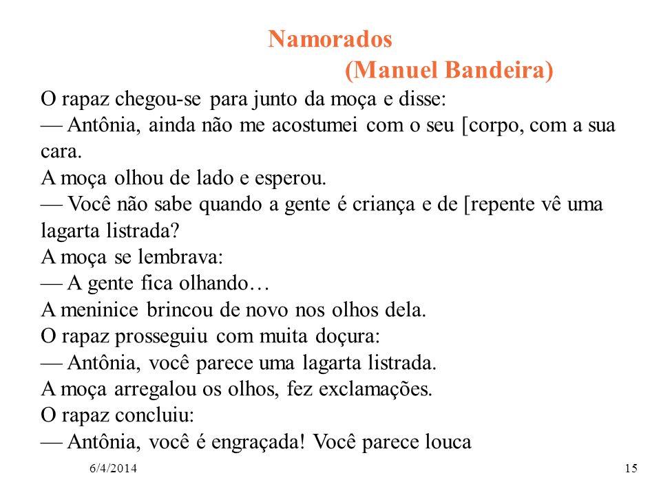 Namorados (Manuel Bandeira)