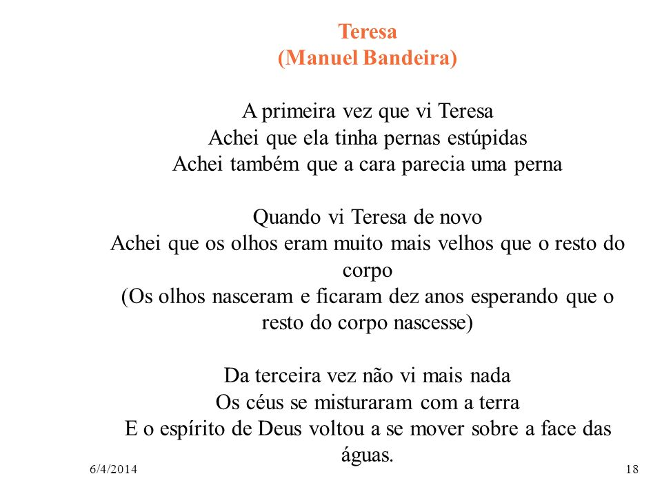 Teresa (Manuel Bandeira)