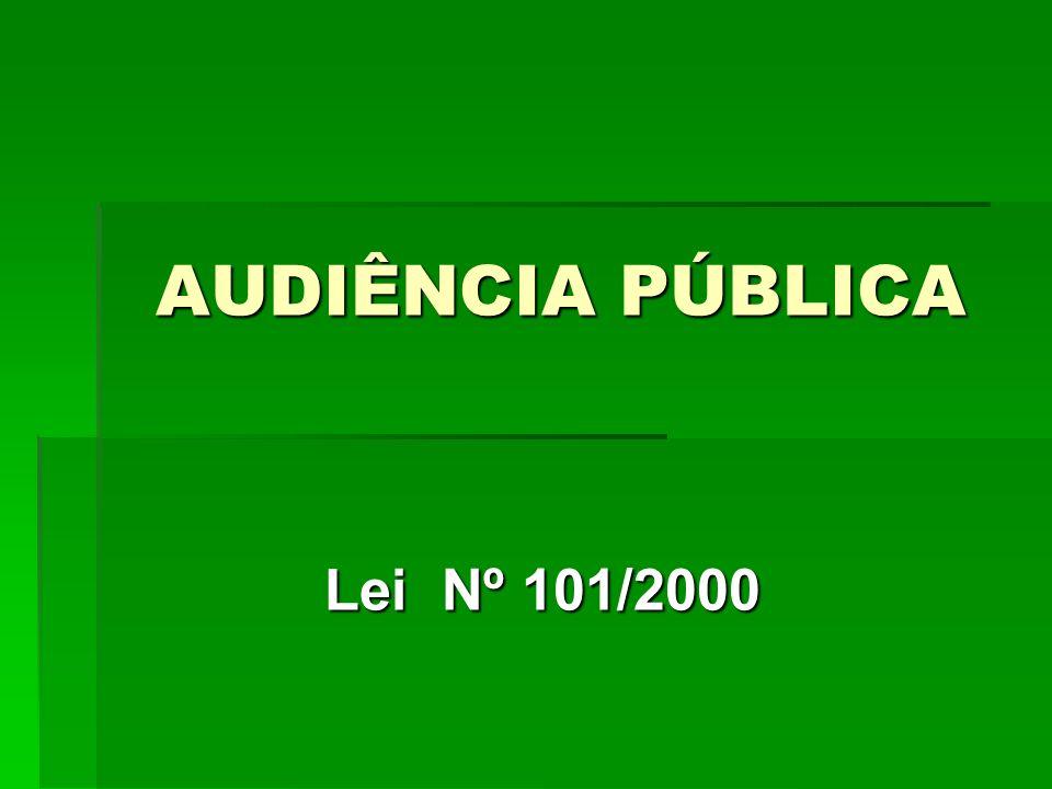 CONTROLADORIA GERAL DO MUNICIPIO Lei Nº 101/2000