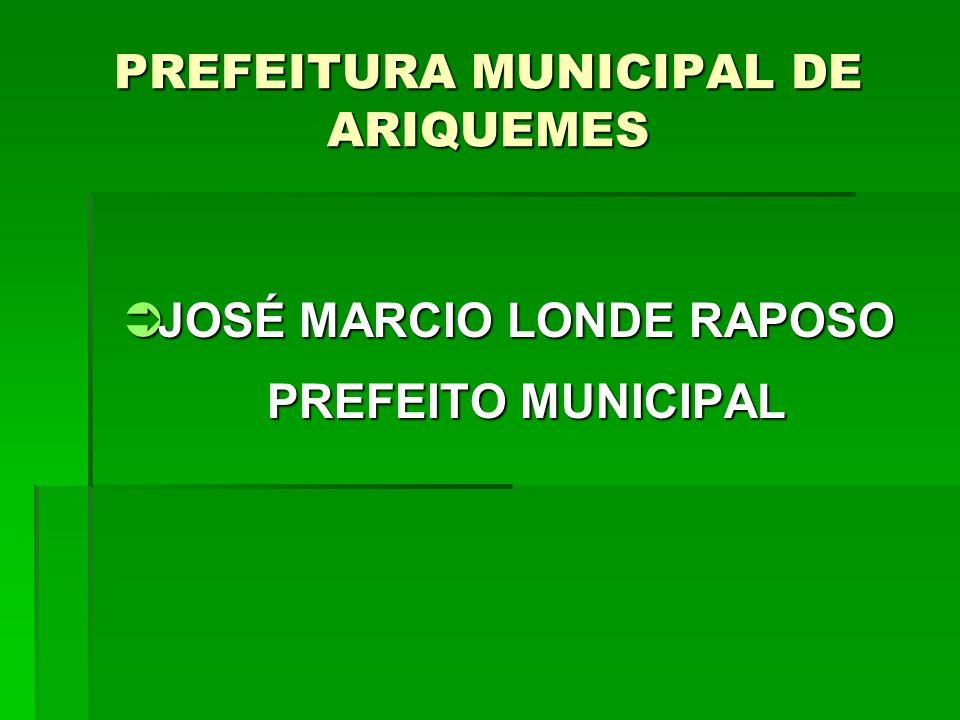 PREFEITURA MUNICIPAL DE ARIQUEMES