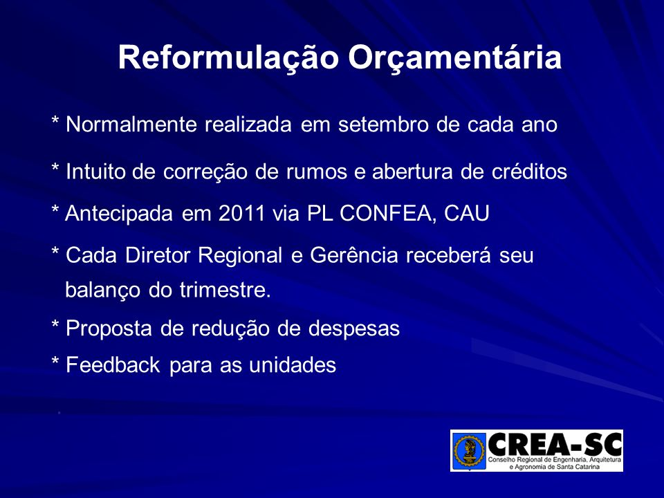 Reformulação Orçamentária