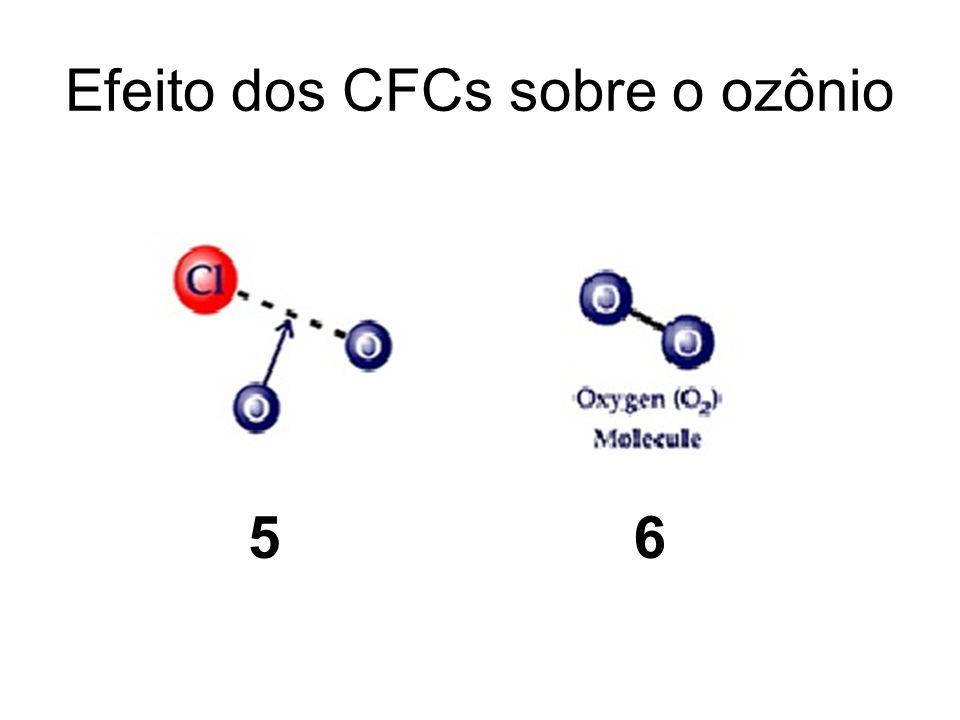 Efeito dos CFCs sobre o ozônio