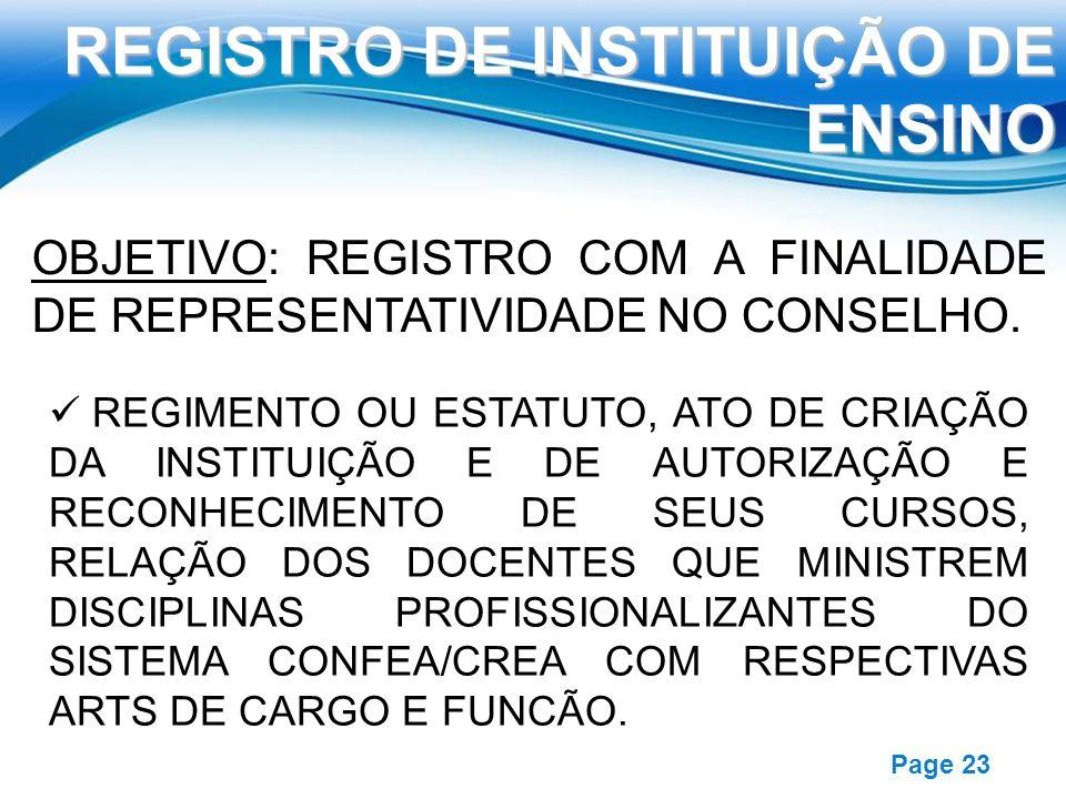 REGISTRO DE INSTITUIÇÃO DE ENSINO