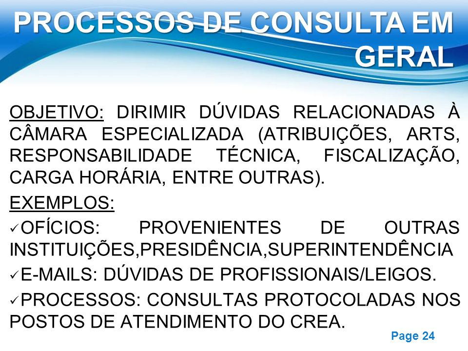 PROCESSOS DE CONSULTA EM GERAL