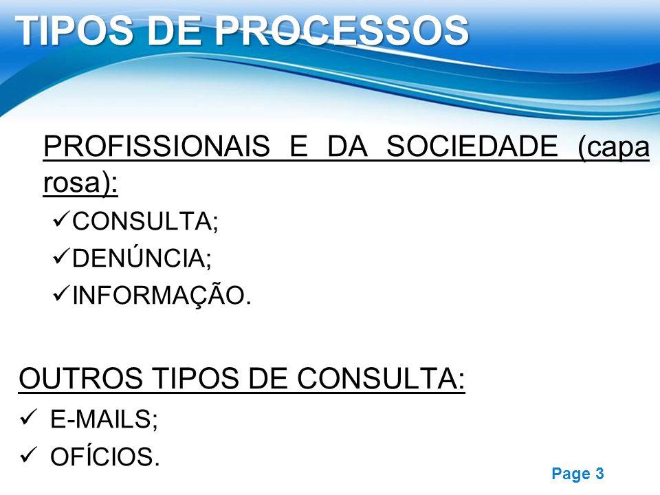 TIPOS DE PROCESSOS PROFISSIONAIS E DA SOCIEDADE (capa rosa):
