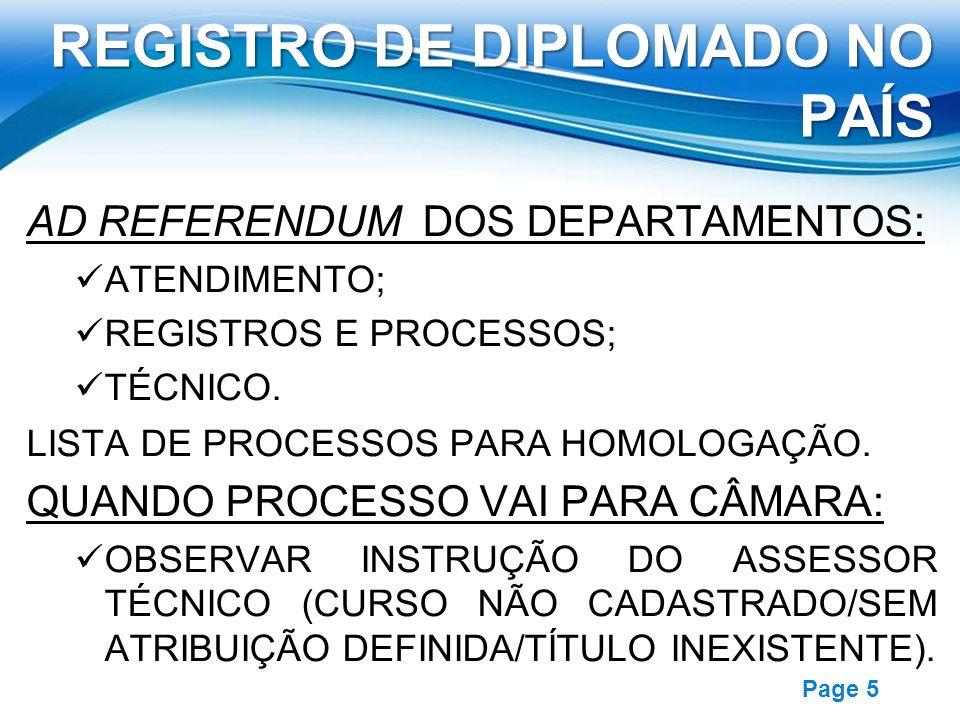 REGISTRO DE DIPLOMADO NO PAÍS