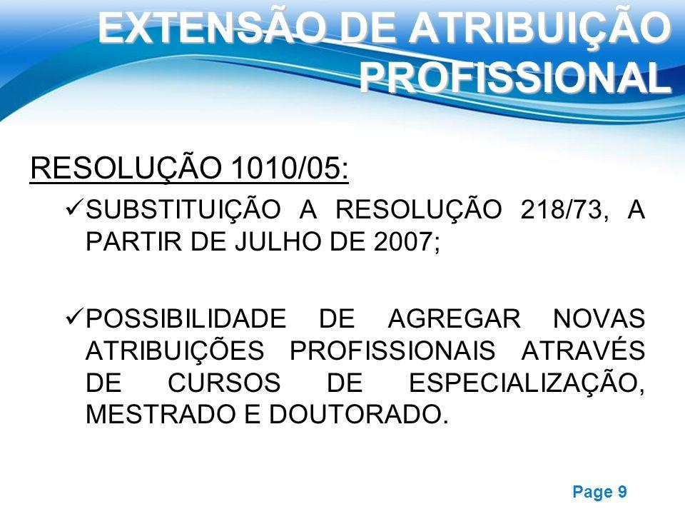 EXTENSÃO DE ATRIBUIÇÃO PROFISSIONAL