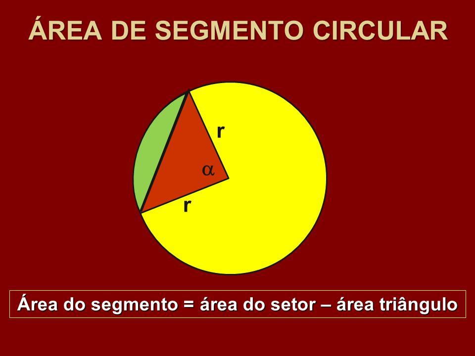 ÁREA DE SEGMENTO CIRCULAR
