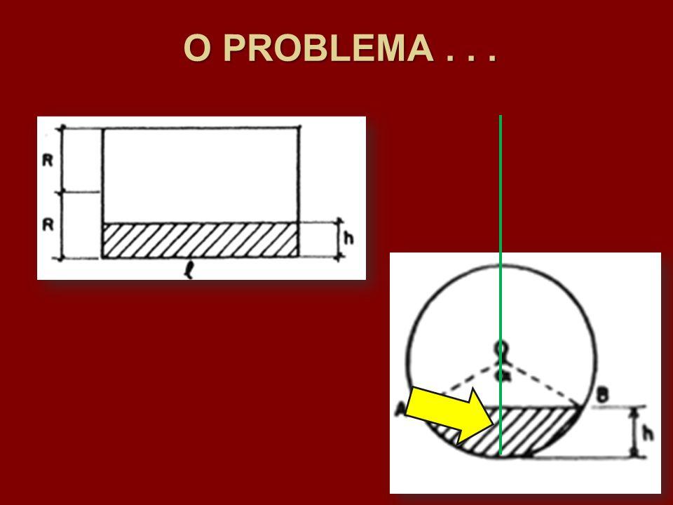 O PROBLEMA . . .