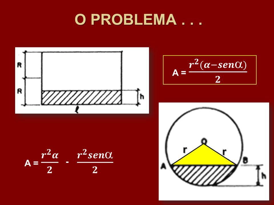 O PROBLEMA . . . r r -