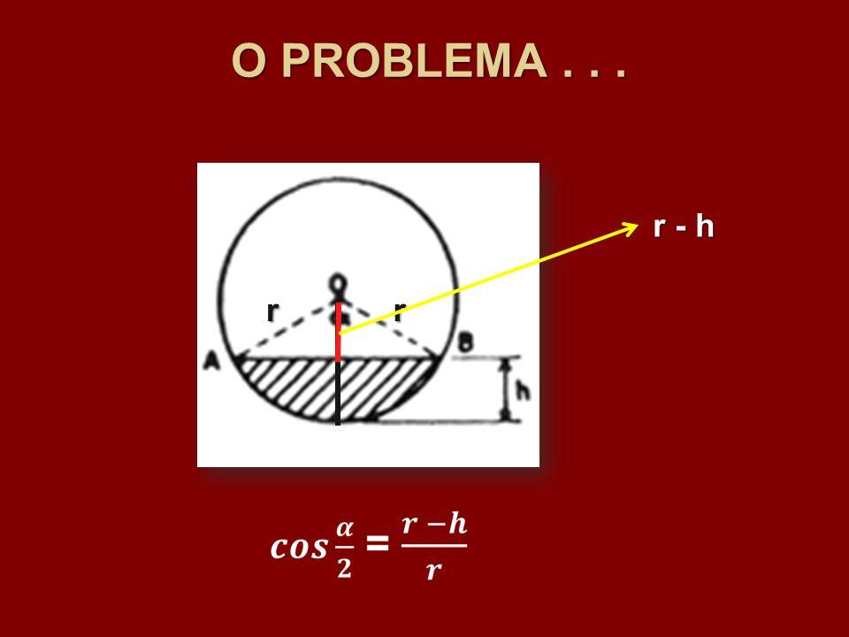O PROBLEMA . . . r - h r r