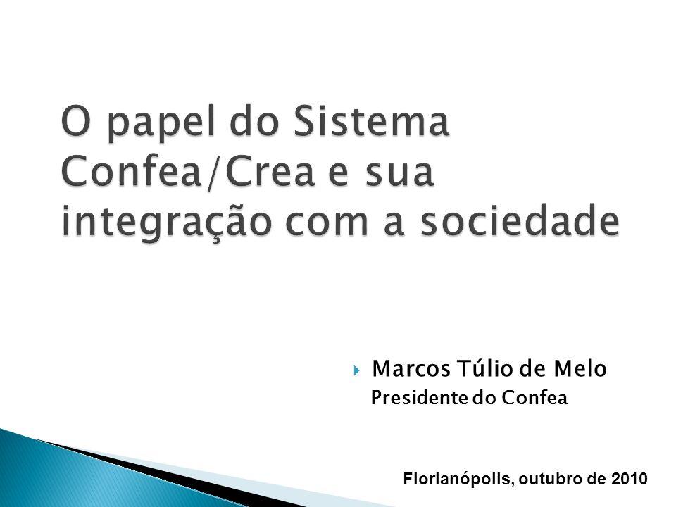 O papel do Sistema Confea/Crea e sua integração com a sociedade