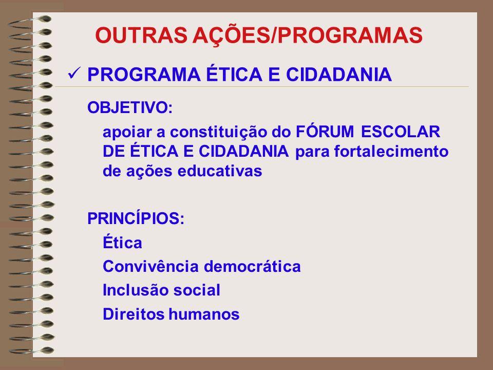OUTRAS AÇÕES/PROGRAMAS