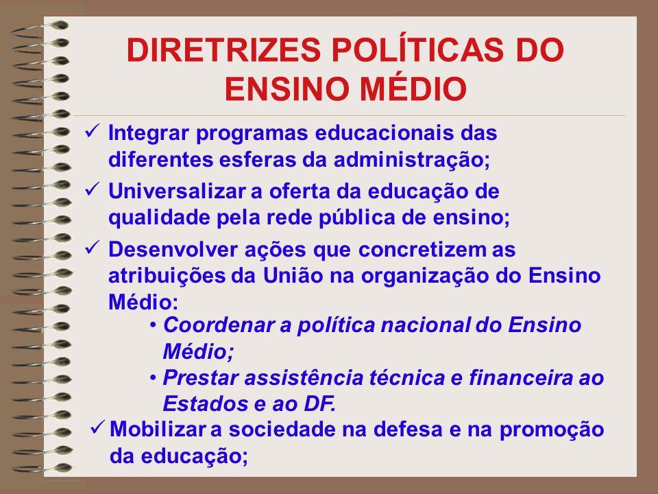 DIRETRIZES POLÍTICAS DO ENSINO MÉDIO