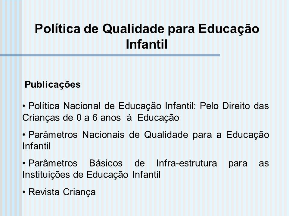 Política de Qualidade para Educação Infantil
