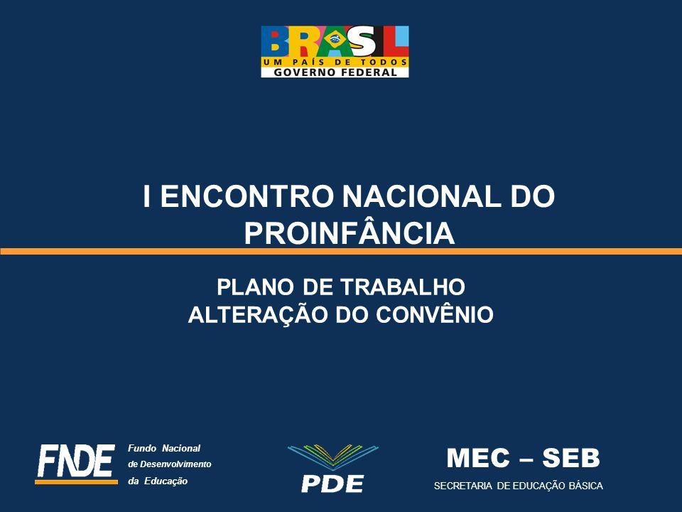 I ENCONTRO NACIONAL DO PROINFÂNCIA