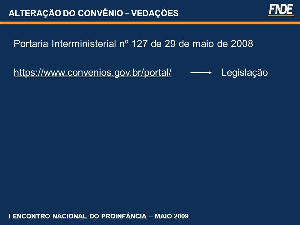 Portaria Interministerial nº 127 de 29 de maio de 2008