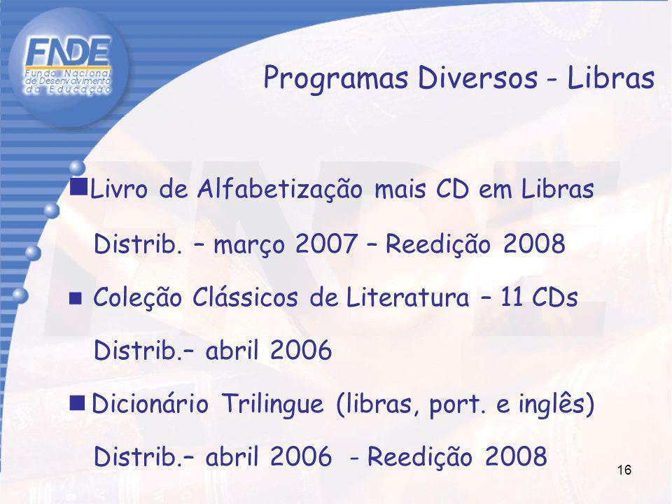 Programas Diversos - Libras