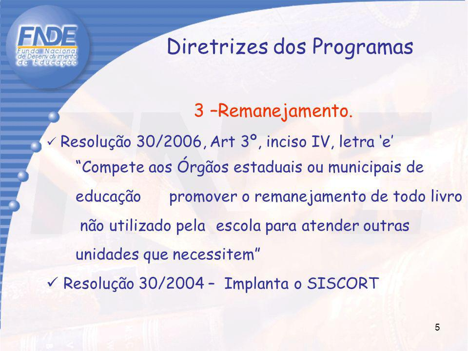 Diretrizes dos Programas