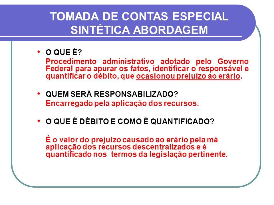 TOMADA DE CONTAS ESPECIAL