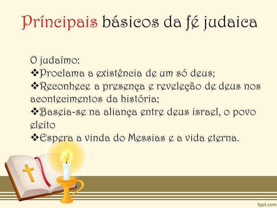 Príncipais básicos da fé judaica