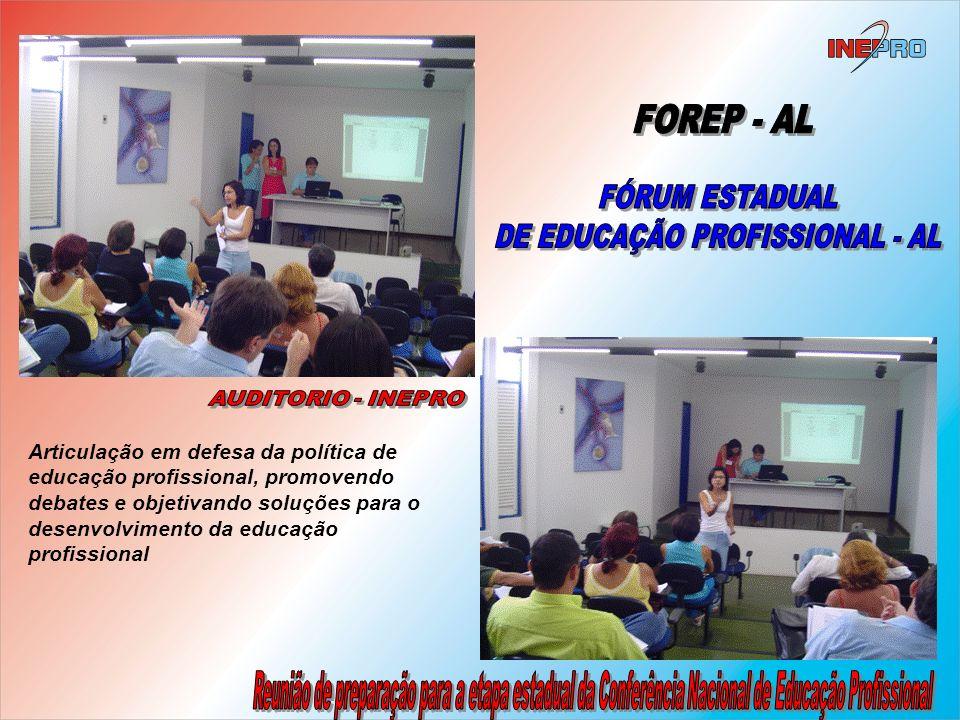 DE EDUCAÇÃO PROFISSIONAL - AL