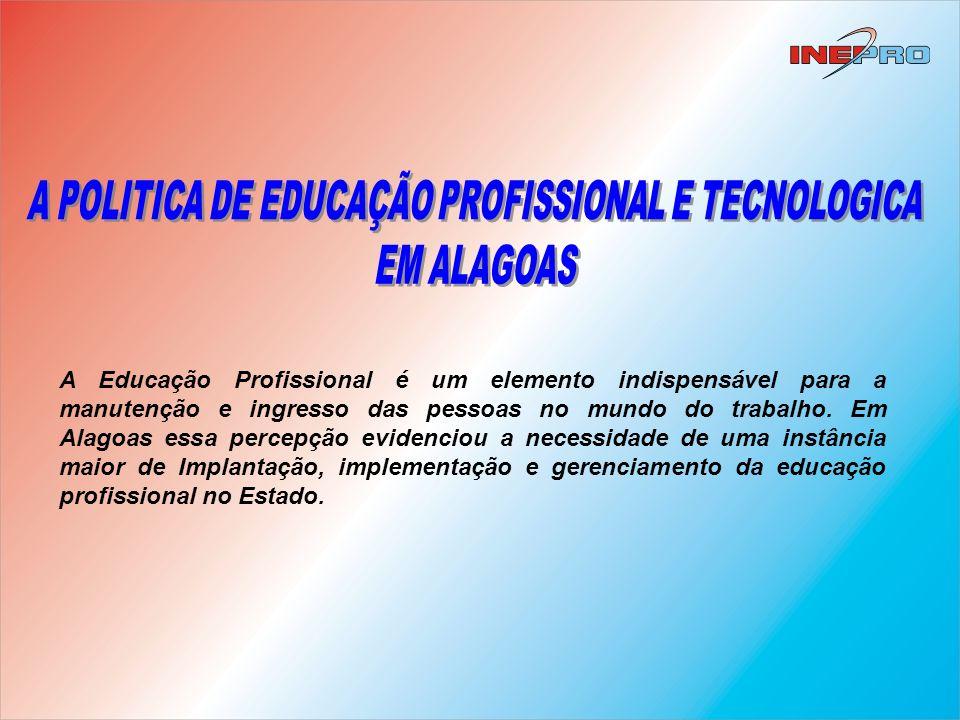 A POLITICA DE EDUCAÇÃO PROFISSIONAL E TECNOLOGICA