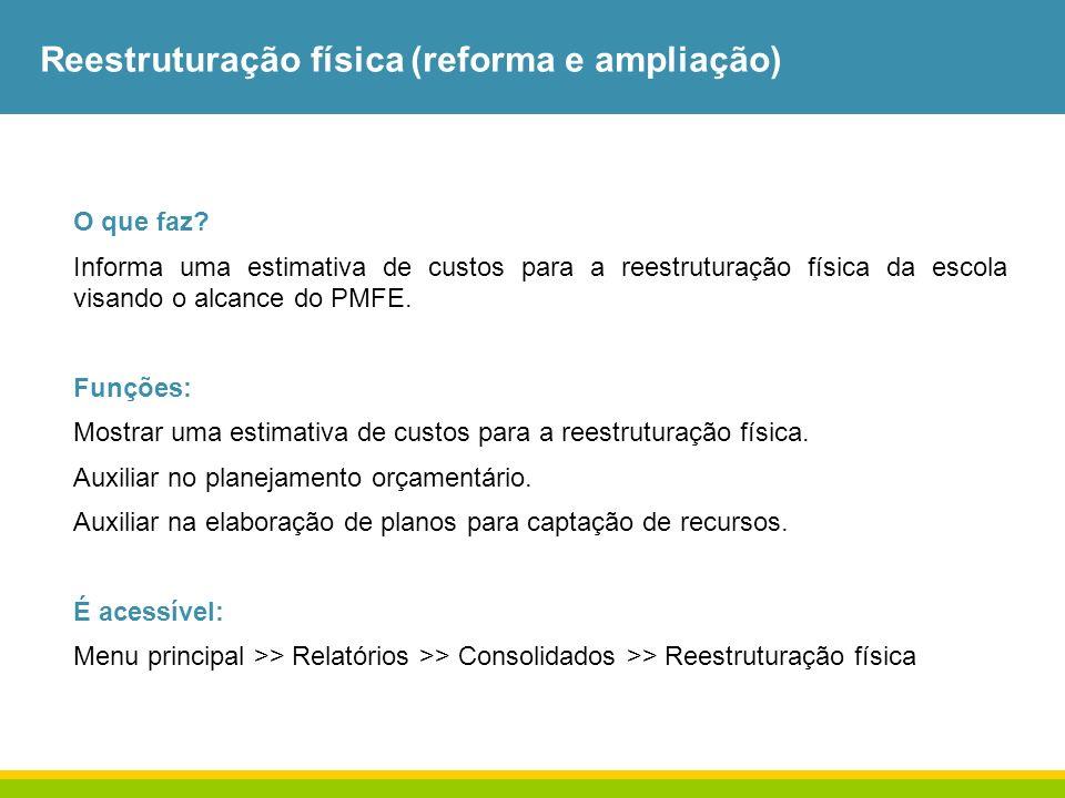 Reestruturação física (reforma e ampliação)