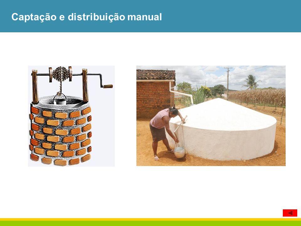 Captação e distribuição manual