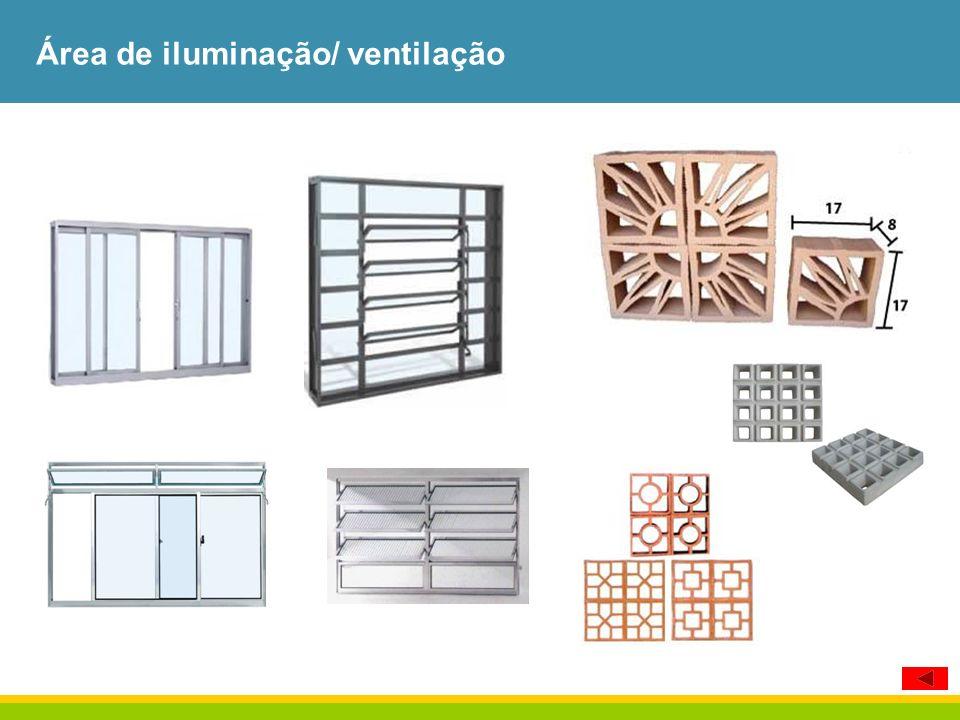 Área de iluminação/ ventilação