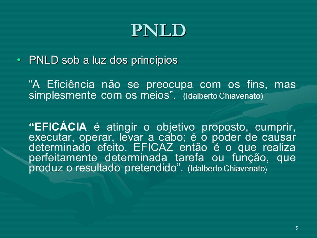 PNLD PNLD sob a luz dos princípios